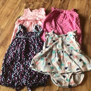 Set of 4 baby girl outfits